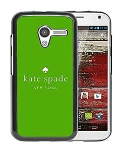 New Fashion Custom Designed Kate Spade Cover Case For Motorola Moto X Black Phone Case 236