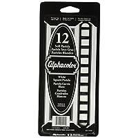 Cuarteto Alphacolor Soft Square Pastels, blanco, 12 pasteles por juego (105204)