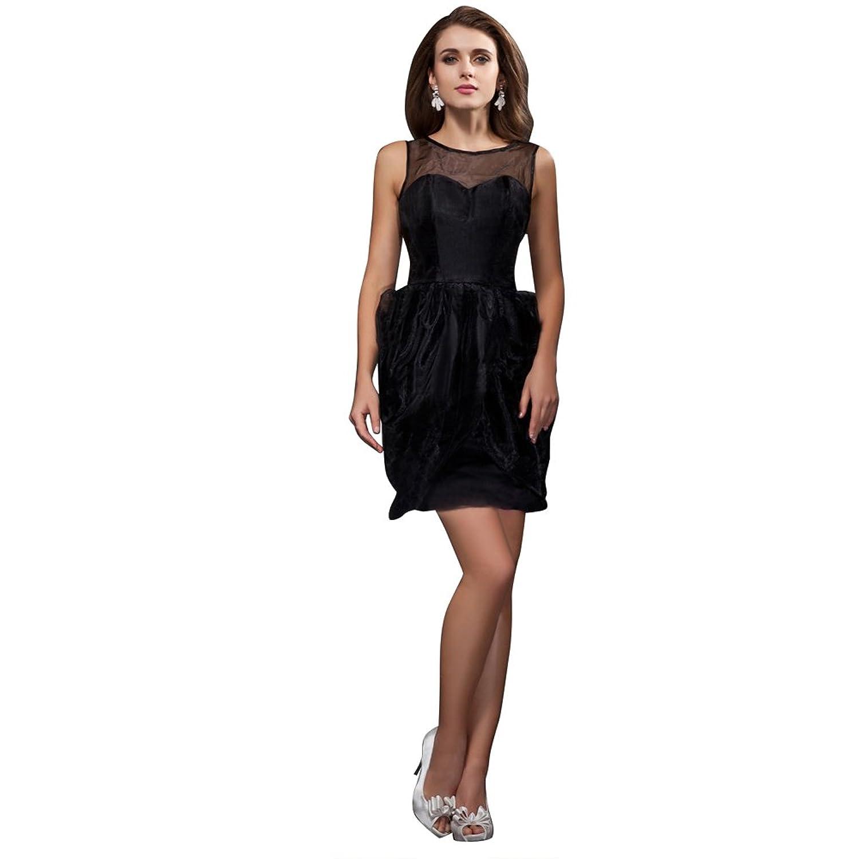 Sunvary Elegant A Line Cocktail Dress Jewel Neck Short Organza Evening Party Dress