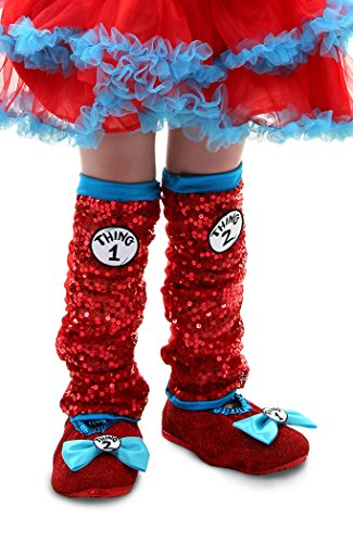 Thing 1 Costume Girl (elope Dr. Seuss Thing 1 & 2 Sequin Leg Warmers)