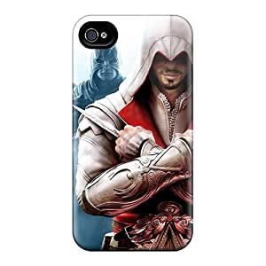 Best Hard Phone Covers For Iphone 4/4s With Custom Attractive Assassins Creed Brotherhood Image ColtonMorrill