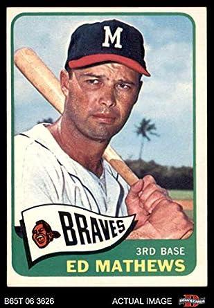 1965 Topps 500 Eddie Mathews Milwaukee Braves Baseball Card Deans Cards 4 Vgex Braves