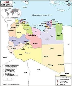 Mapa político de Libia (36