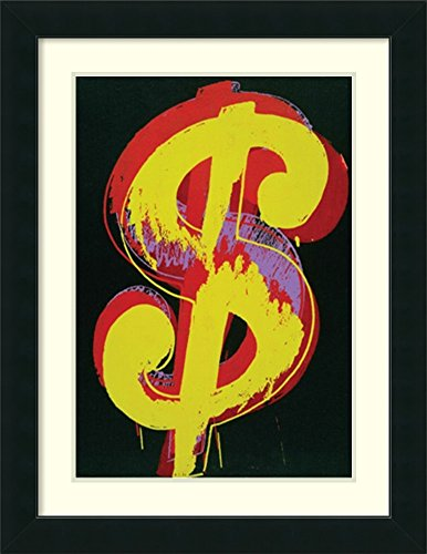 (Framed Wall Art Print | Home Wall Decor Art Prints | Dollar Sign, 1981 by Andy Warhol | Modern Decor )