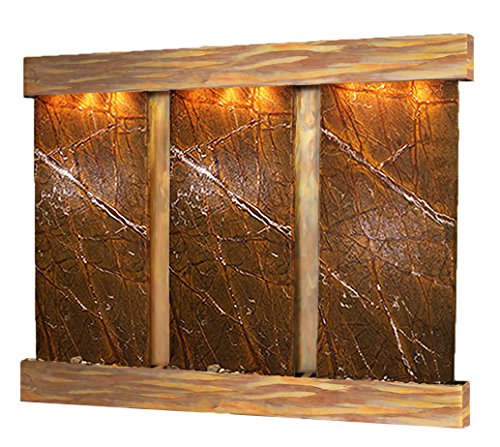 UPC 764753341895, Deep Creek Falls Water Feature with Rustic Copper Trim and Square Edges (Rainforest Brown Marble)
