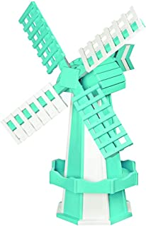 product image for DutchCrafters Decorative Poly Two-Tone Windmill (Medium, Aruba Blue/White)