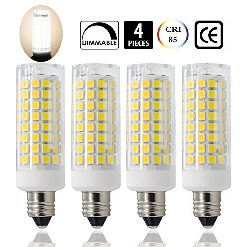 E11 LED, All-New (102LEDs) E11 Led Bulbs, 8W 75W-100W Equivalent, 850 LM, Daylight 6000K, Dimmable ,E11 Mini Candelabra Base , JD T3/T4 360 degree beam angle for indoor decorative lighting(4 Pack)
