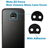 Alovexiong Back Rear Camera Glass Lens Cover with Adhesive Repair Replacement Parts for Motorola Moto Z2 Force XT1789