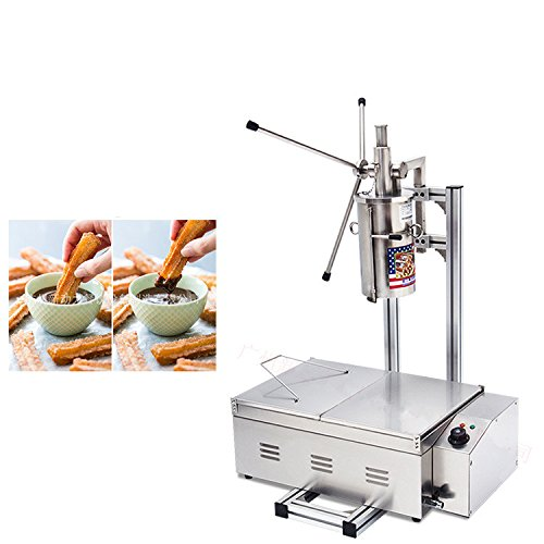 5L Churro Making Machine Spanish Churro Twisted Stick Machine with 25L Electric Deep Fryer by JIAWANSHUN