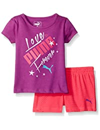PUMA baby-girls Puma Short Set