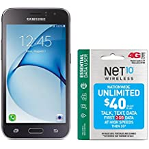 Net10 Samsung Galaxy Luna 4G LTE Prepaid Smartphone with Free $40 Airtime Bundle