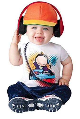 InCharacter Baby Boy's Beats DJ Costume, White/Orange, (Dj Halloween Costumes For Kids)