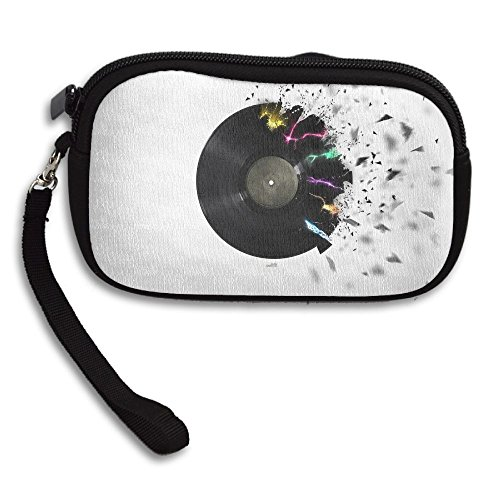 Zipper Small Wallet CD And Music Notes Women's Purse Porte-monnaie Clutch Cards Holder Wallet Purse Business Card Wallet (Music Shoulder Cd)