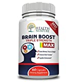 HEALTH NURTURE BRAIN BOOST MAXIMUM STRENGTH - Best Brain Supplement - Nootropics Brain Booster Memory SupportVitamins for Brain Health Best Mind Supplements FocusClarity amp Cognitive Function Discount