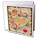 3dRose Vintage My Valentine Cupid - Greeting Cards, 6 x 6 inches, set of 6 (gc_8079_1)