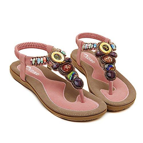 mujer tacón Zapatos con Rosa Zicac 8qxFY0wt