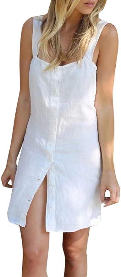 Robe de Femme sans Bretelles La Mode des Femmes La Robe sans Manches Au Dessus du Genou en Vrac Solide Robe Femme Fond de Robe Classique Bretelles Jupons Mini Robe de mari/ée