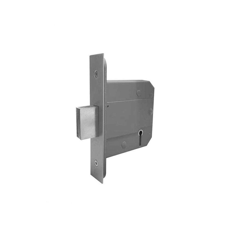 76mm Satin Stainless 5 Lever Dead Lock British Standard
