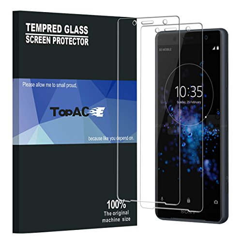Compact Screen (Sony Xperia XZ2 Compact Screen Protector, TopACE 9H Hardness [Case Friendly][Anti-Scratch][Bubble Free] Tempered Glass for Sony Xperia XZ2 Compact (2 Pack))