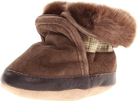 Robeez Cozy BN Crib Shoe (Infant/Toddler),Brown,0-6 Months M US Infant