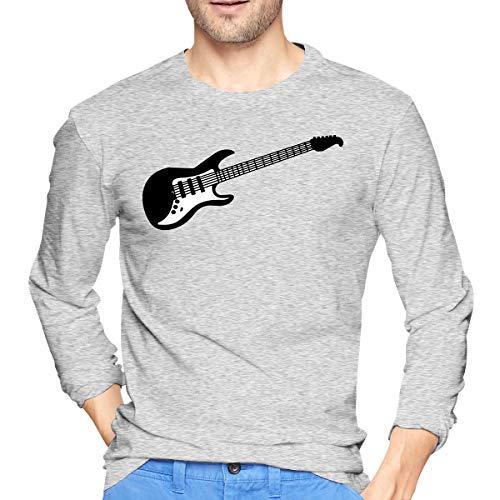 Mens Long Sleeve 100% Cotton T-Shirts, Slim Fit