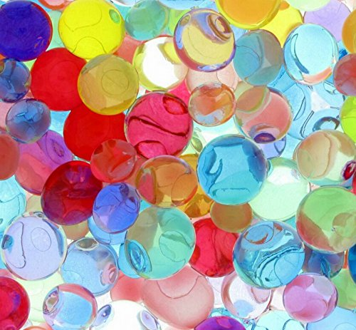 Suriel 50,000 Pcs/Set Water Beads for Spa Refill Magic Growing Jelly Bead Sensory Toys and Decor,Color Mix
