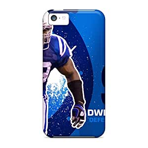 Perfect Hard Phone Case For Iphone 5c With Custom Colorful Indianapolis Colts Skin LauraAdamicska
