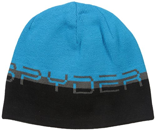 - Spyder Reversible Word Hat, Polar/Electric Blue/Black, One Size