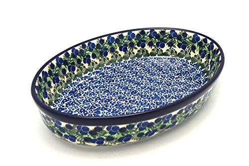 Polish Pottery Baker - Oval - Large - Huckleberry (Pottery Casserole)