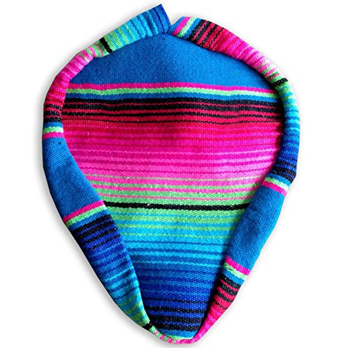 - Authentic Mexican Blanket/Serape' Bicycle Seat/Saddle Cover/Handmade Bike Seat/Unique and Stylish for CruzIn Beach Boardwalks (Pink/Blue)