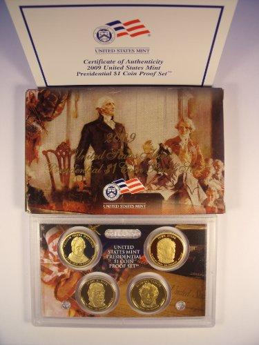 2009 U S Mint Presidential Dollar Proof Set With Box & COA