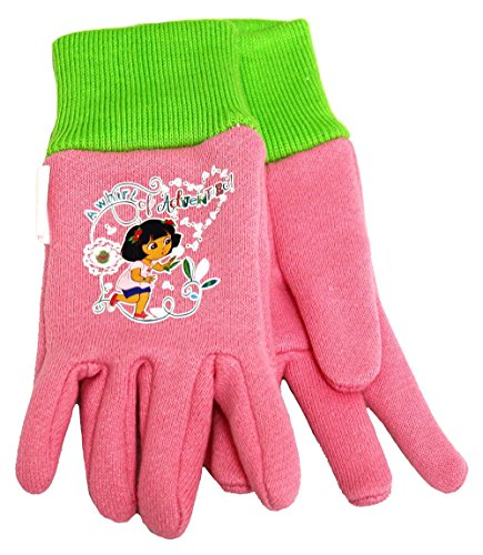 Midwest DE102T Dora The Explorer Toddlers All Pink Cotton Jersey Glove 6 Pair ()
