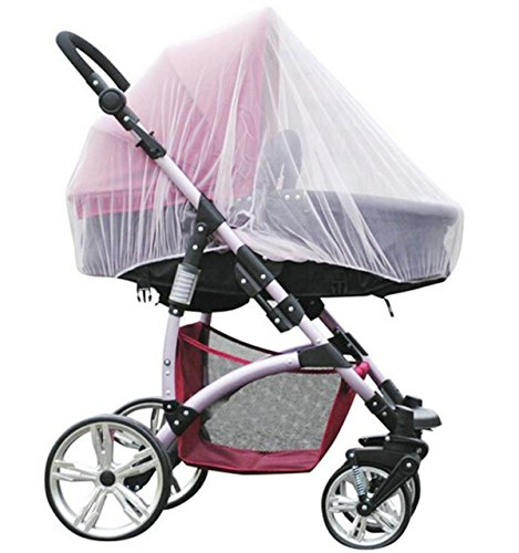 Lind Kitchen Baby Buggy Mosquito Net Full Cover Insect Net for Children Stroller Pushchair Crib Outdoor Protect Safe Mesh Cover Mosquito Tent White 150cm