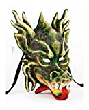 Italian Made Venetian Dragon Mask Full Face (Dragon Green)
