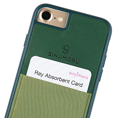 (Sinjimoru iPhone 7 case/iPhone 8 Case with Sinji Pouch Card Holder, Slim Card Wallet case for Apple iPhone 7 (2016) / iPhone 8 (2017). Sinji Pouch Case for iPhone 7/8, Green.)
