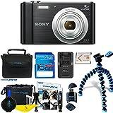 Sony Cyber-shot DSC-W800 Digital Camera (Black) + Deal-Expo Premium Accessories Bundle