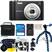Sony Cyber-shot DSC-W800 Digital Camera (Black) +...
