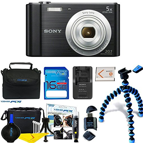Sony Cyber-shot DSC-W800 Digital Camera (Black) + Deal-Expo Premium Accessories (Black Digital Camera Kit)
