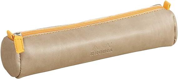 Rhodia 318897C 21,5x5,5 cm trousse ronde Rhodiarama turquoise simili cuir