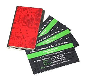 Amazon circuit board business card case red business card circuit board business card case red colourmoves