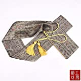 51'' Japanese Samurai Sword Katana Soft Case Sword Bag Yellow Long Tassel Chinese Character Calligraphy Yellow