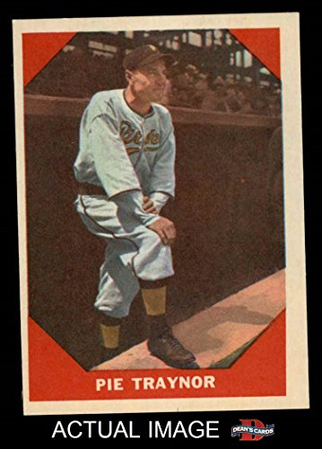 1960 Fleer # 77 Pie Traynor Pittsburgh Pirates (Baseball ...