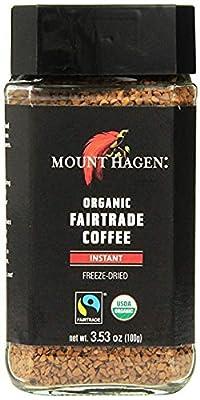 Mount Hagen Freeze Dried Instant Coffee- 3.53 Oz Jars- 2 Pack by Mount Hagen