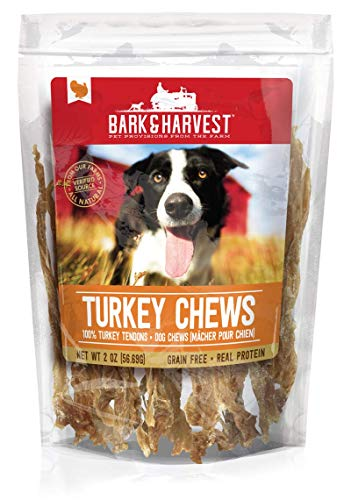 Bark & Harvest Turkey Chews  All Natural Dog Chews from Our Farms   Real Protein Dog Chews   100% Turkey Tendons (2 oz.)