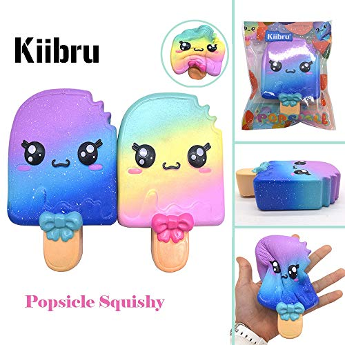1 lot 14PCS/Lot Hot Kiibru Super Kawaii Popsicles Squishy Strawberry Scented Slow Rising Ice cream Original Package Gift Wholesale
