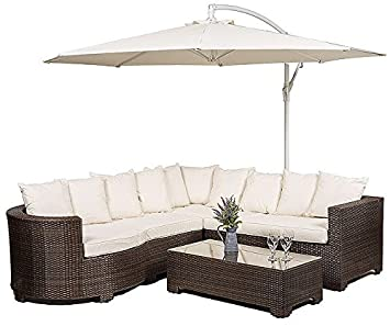 Garden Furniture 8 Seater Marbella rattan garden furniture 8 seater corner sofa set with glass marbella rattan garden furniture 8 seater corner sofa set with glass top table seat cushions workwithnaturefo