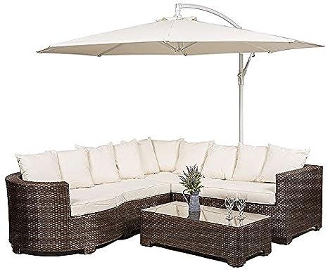 Muebles de jardín de ratán Marbella, sofá esquinero de 8 ...