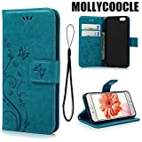 MOLLYCOOCLE iPhone 6 Case, iPhone 6S Wallet Case