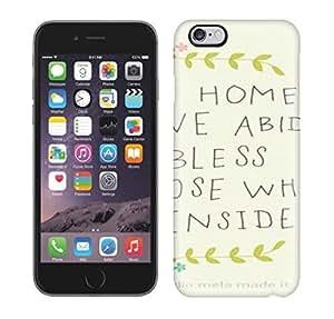 Travers-Diy Flexible Back case cover For Iphone 6 Plus - vPnIeknTOuI HOME SWEET HOME