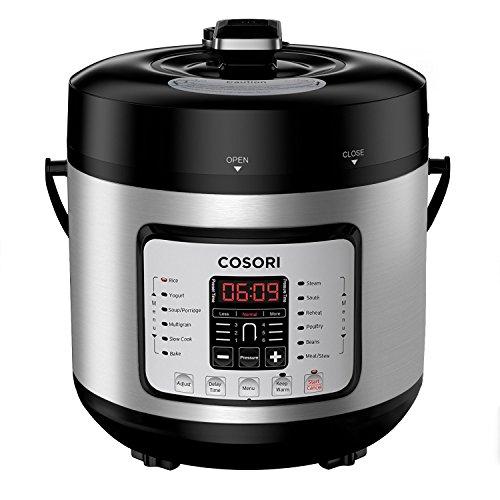 COSORI 7-in-1 6 Qt Electric Pressure Cooker, Slow Cooker, Rice Cooker, Yogurt Maker, Sauté, Steamer & Warmer,...